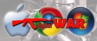 Lucu, Ilustrasi Perang Apple-google-microsoft [ www.BlogApaAja.com ]