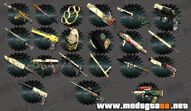 SA - Pack de Armas Grafitadas