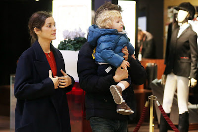 Marion Cotillard and baby boy Marcel husband Guillaume Canet family photo