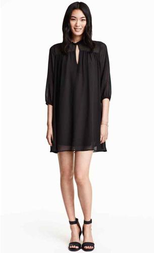 vestidos de H&M en negro invierno 2015 2016
