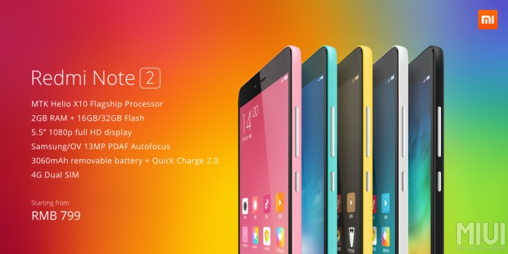 Xiaomi Has Unveiled The Redmi Note 2 And Prime In China At 899 Yuan Rs 9000 Approx 999 10000 Respectively