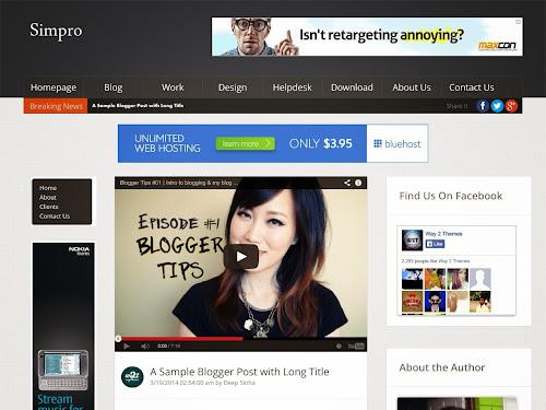 Template Simpro Para Blog de Noticias