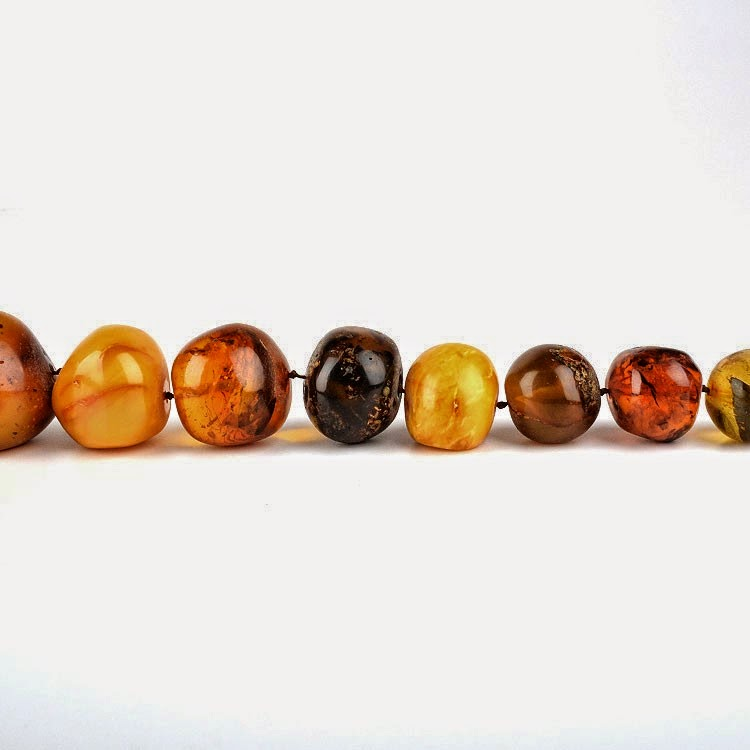 Amber Beads Necklace Russian Baltic Amber