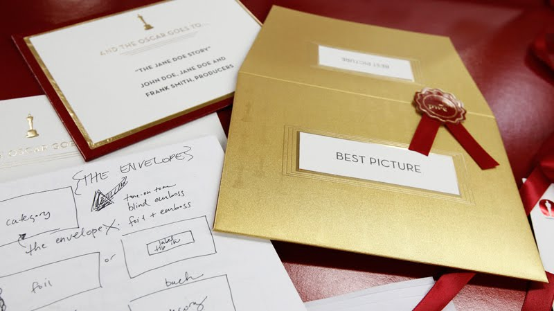 New Oscar envelope design