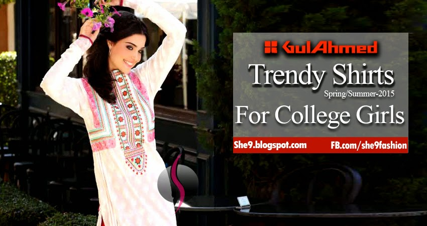 Gul Ahmed Trendy Shirts for Summer 2015