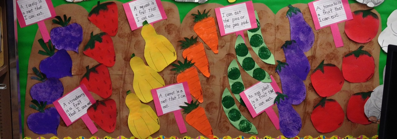 Garden Bulletin Board Ideas Vegetable and gardening unit apples and abcs workwithnaturefo