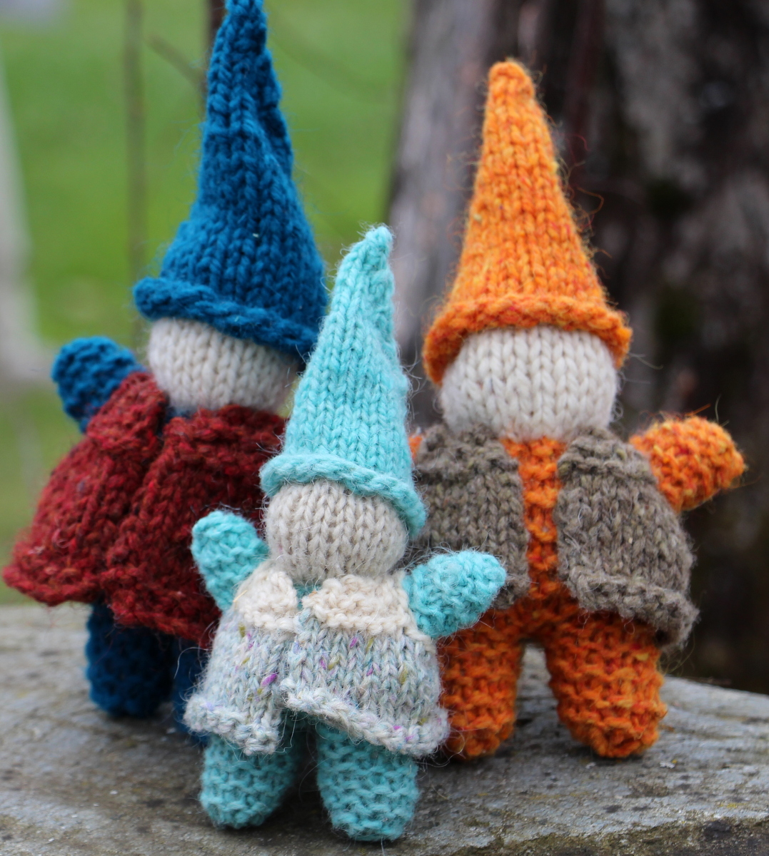 Natural Earth Farm: Hand Knit Gnome with Vest