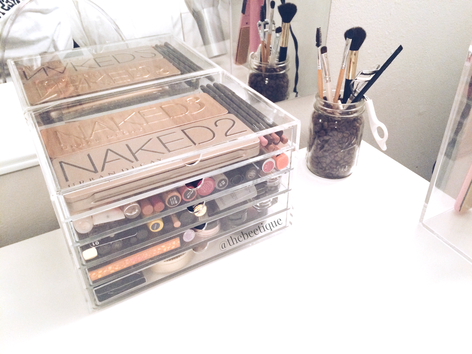 The beetique diy ikea vanity trends Makeup drawer organizer ikea