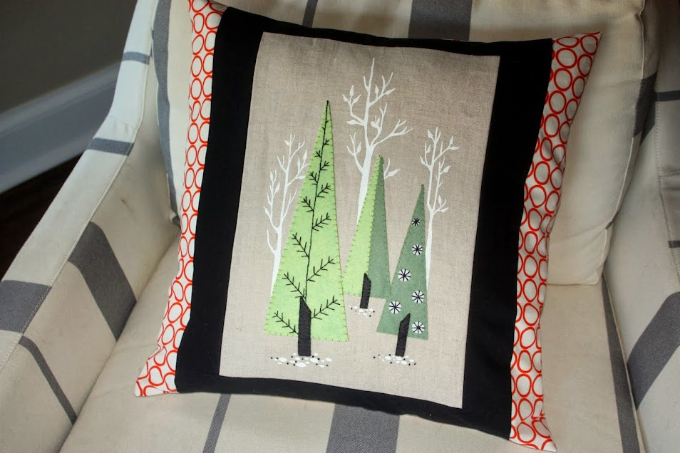 Mid-Century Modern Holiday Pillow - LIME RIOT