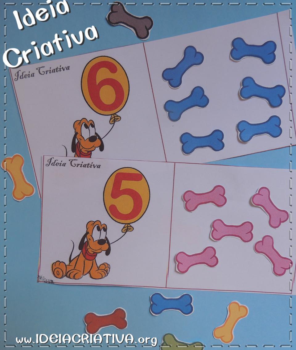 Flash Cards Sala de Recursos Mutifuncional Quantos osso Pluto quer?