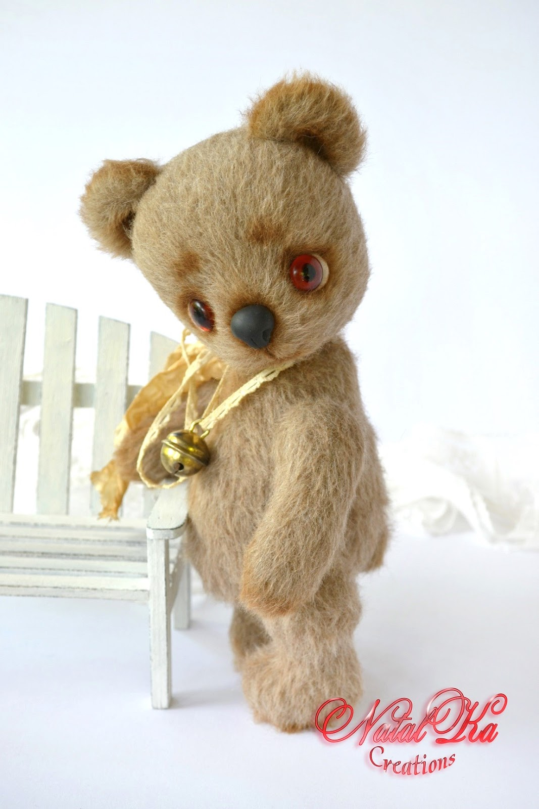 Авторский мишка теди медведь медвежонок из кашемира ручной работы от NatalKa Creations. Künstlerbär Bär Sammlerbär  Teddybär Teddy Unikat handgemacht von NatalKa Creations