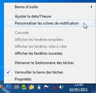 notification sous Windows 7
