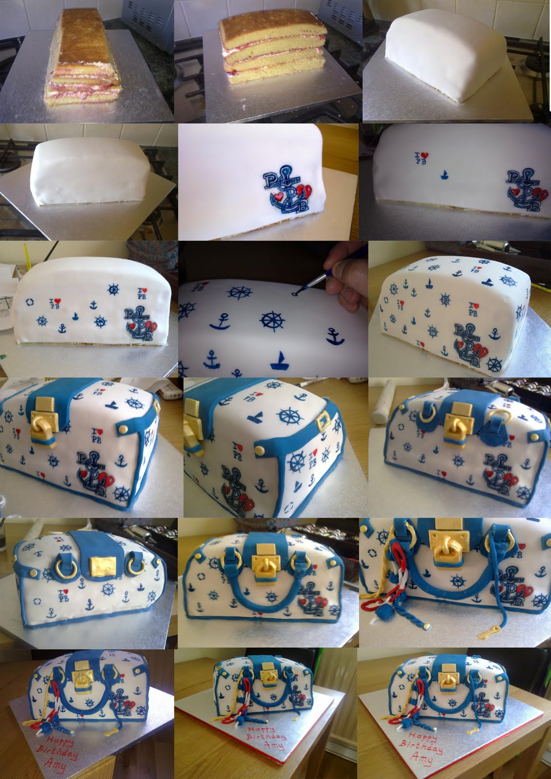 Cake Images Step By Step : BakerLou: Handbag Cake