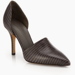 Saks Fifth Ave Vince Claire croc embossed leather d'Orsay pumps