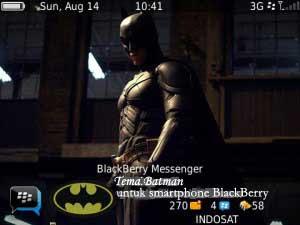 Tema Batman di Home Screen BlackBerry