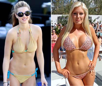 It's a full-out bikini wars showdown when the most heavily endowed hotties ...