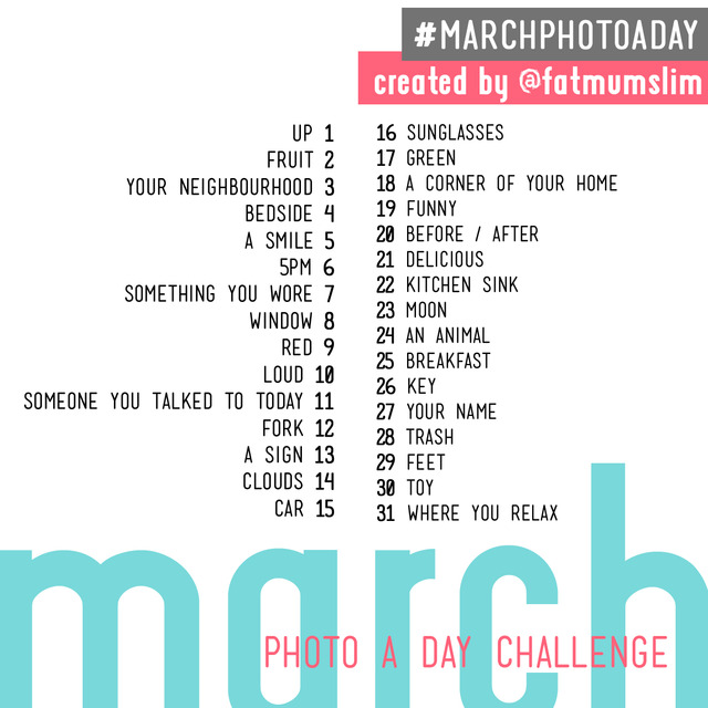 50 Daily Weekly One a day photo challenge