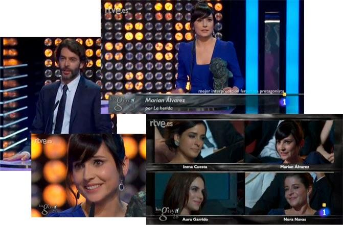 Marian Álvarez, mejor actriz protagonista por La Herida