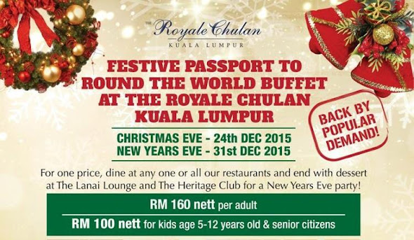 CELEBRATE CHRISTMAS / NEW YEARS EVE AT ROYALE CHULAN KL