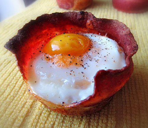 Sugarcoated: Bacon, Egg and Toast Cups