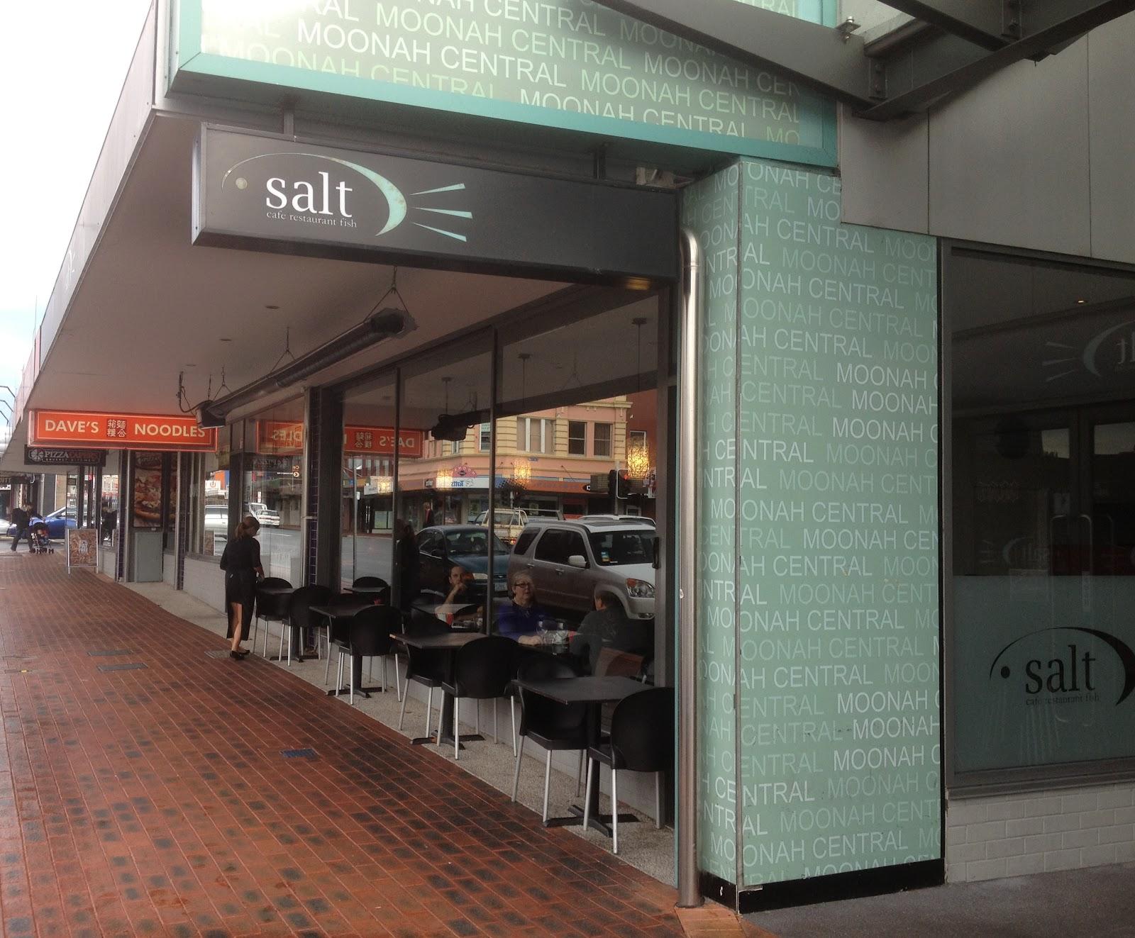 Salt Cafe Moonah Menu