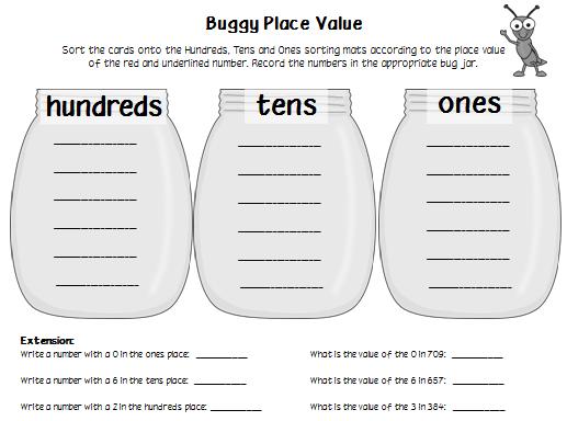 Place Value Worksheets place value worksheets hundreds tens ones – Ones Tens Hundreds Worksheets