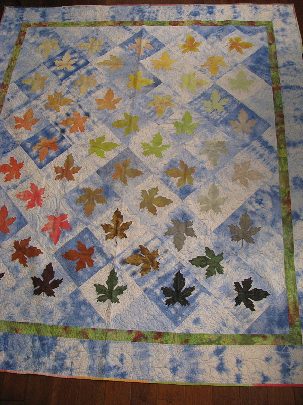 Quilt Patterns With Leaves : Collector With A Needle: Leaf Quilt, Turning Over a New Leaf