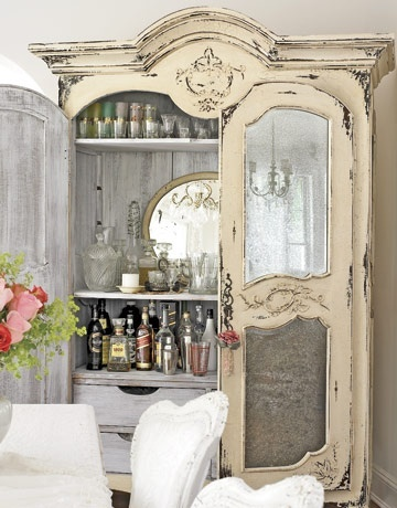 House Beautiful Beverage Bar Armoire
