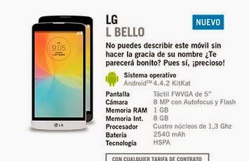 LG L Bello YOIGO: precio y características destacadas
