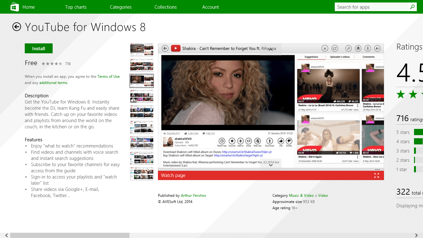 YouTube For Windows 8