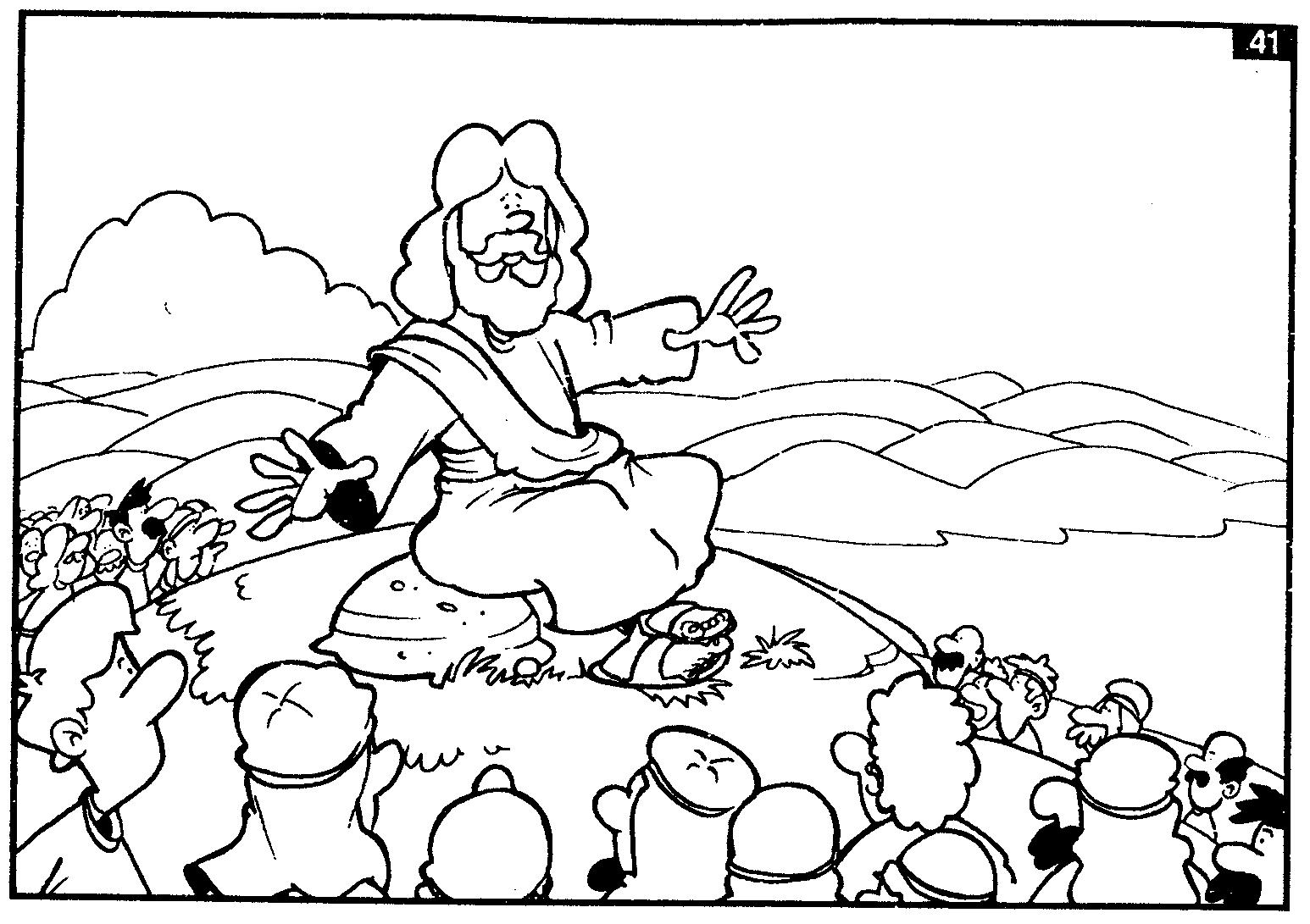 Jesus y los niños para colorear - Dibujos para colorear - IMAGIXS