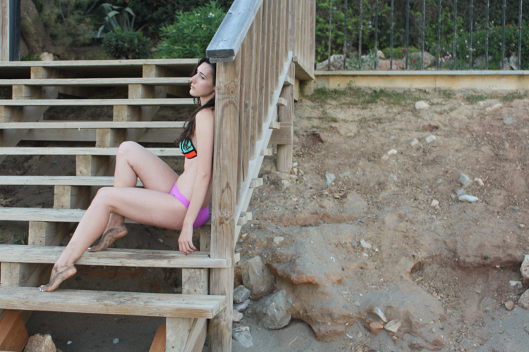 Mesh patchwork bikini