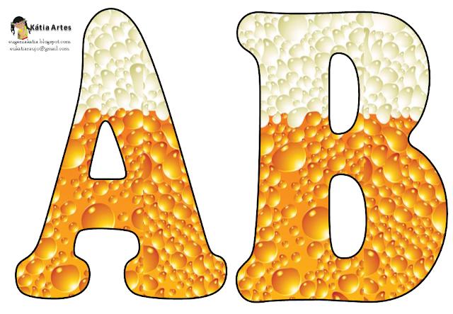 Alfabeto burbujas de cerveza. | Oh my Alfabetos!