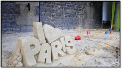 I Love Paris Plages, chateau sable 2012 cours tai-chi quais de seine zen