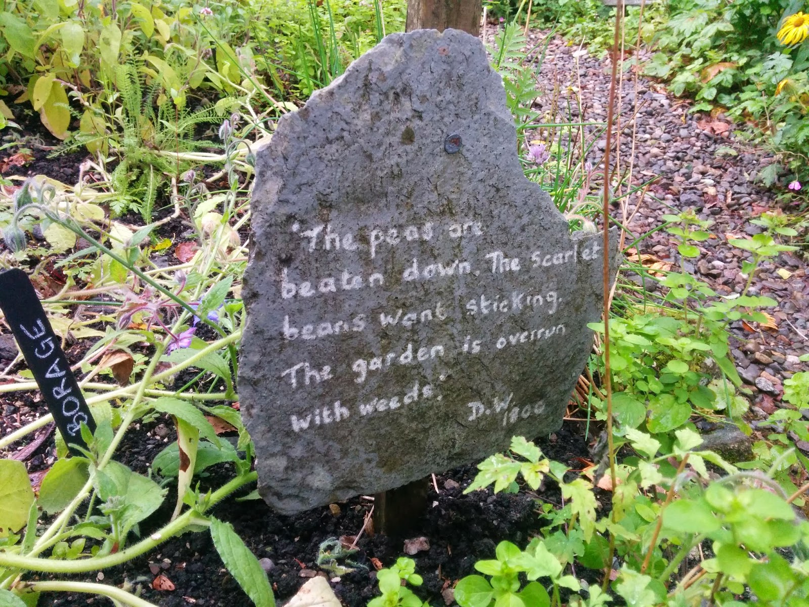 Dove Cottage poetry in the garden
