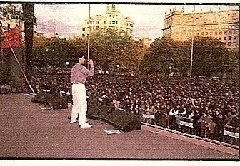 Concierto en Plaza Catalunya en 1986