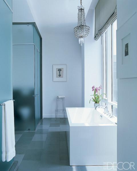 TRIO DESIGNER Banheiros Decorados -> Lustre Banheiro Moderno