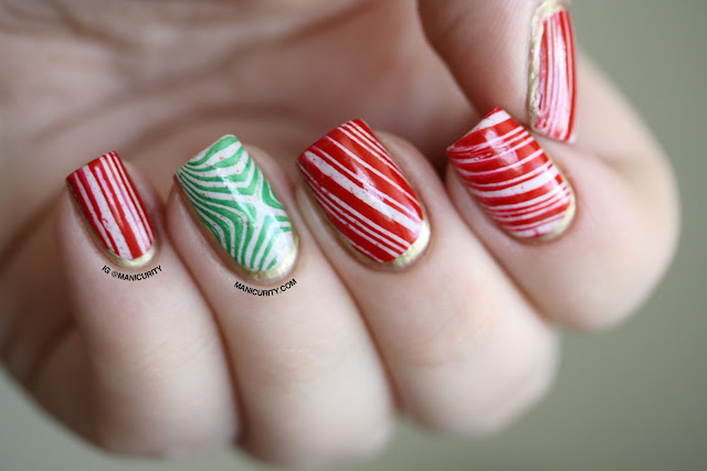 Manicurity | The Digit-al Dozen: Candy Cane Ruffian