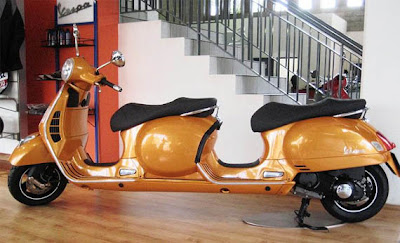 unique scooter, the modification of scooter, 2 sit vespa, the most wanted vespa