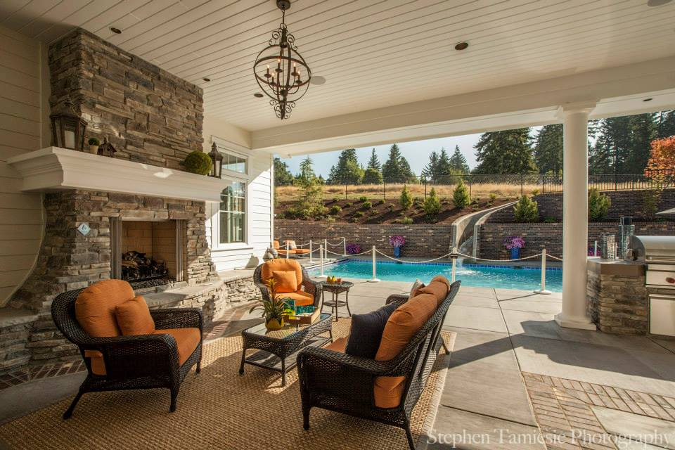 Antique style shingle style meets northwest for Ipg pool show