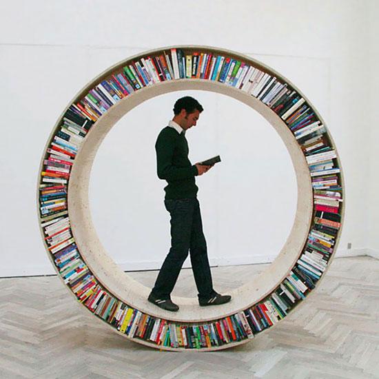 Rak buku bulatan