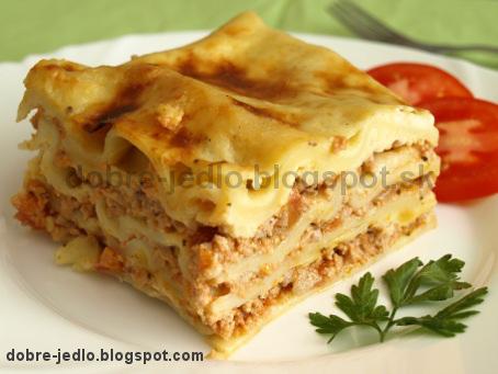 Lasagne s bolonskou omáčkou - recepty