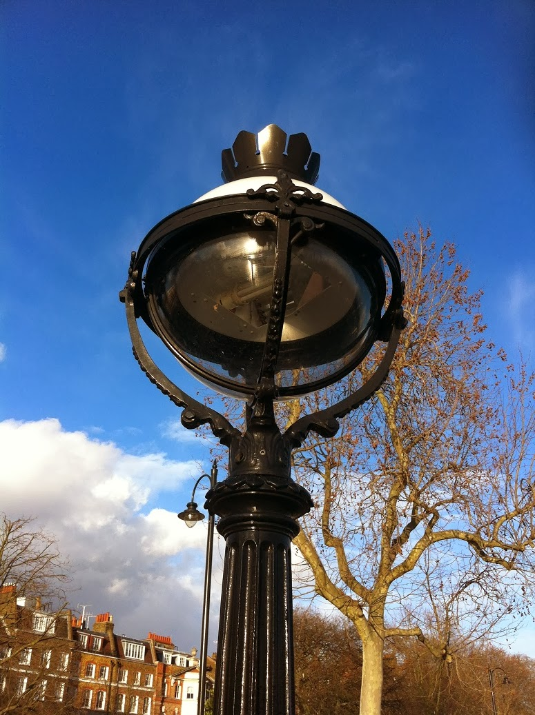 Street lamp on the Chelsea embankment, London