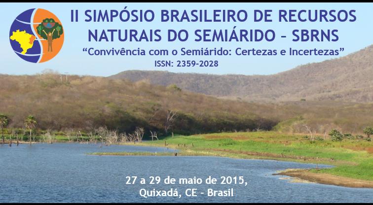 II SIMPÓSIO BRASILEIRO DE RECURSOS NATURAIS DO SEMIÁRIDO - SBRNS