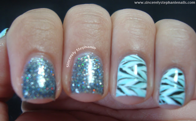 harlow and co misfits essie mint candy apple konad nail art stamping