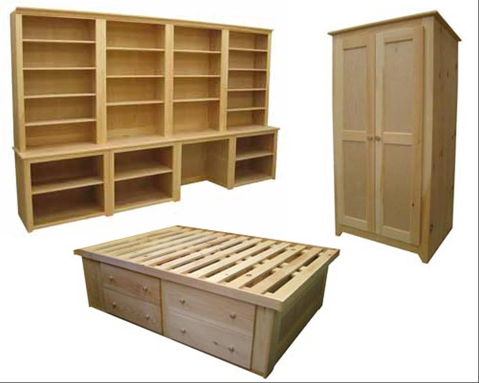 Pine furniture Cream wooden furniture