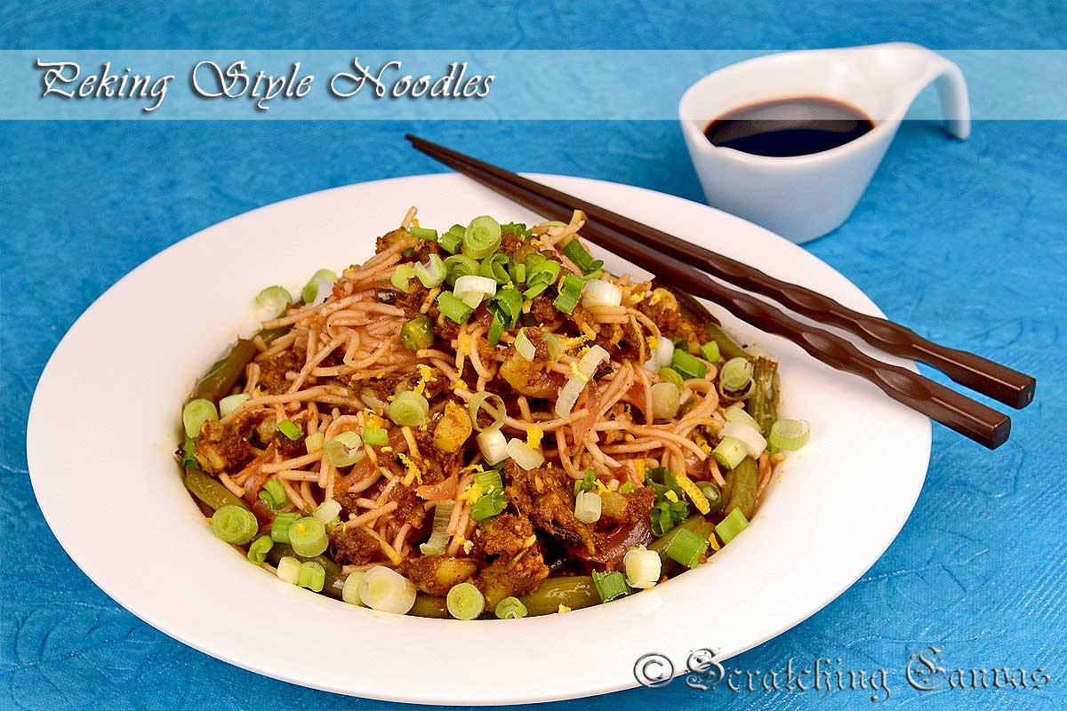 mac hillbilly ground beef with beijing sauce over noodles sauce over ...