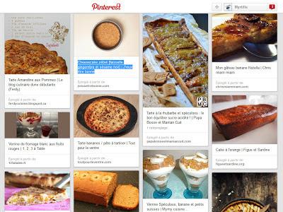 La blogosphère gourmande de Myrtille : recettes sucrées à essayer (sur Pinterest)