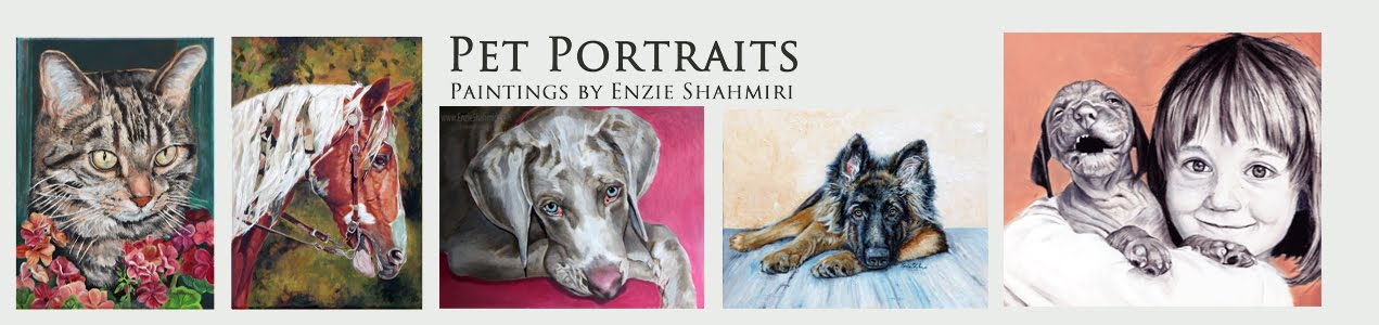 Pet Portraits ~ Paintings by Enzie Shahmiri