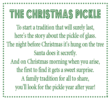 Enterprising image with christmas pickle story printable